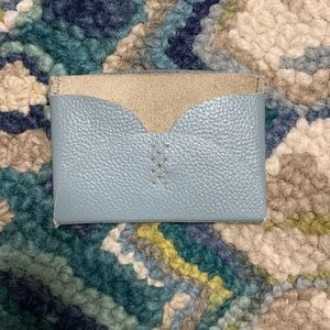 Anthropologie Yarrow Leather & Suede Card Case